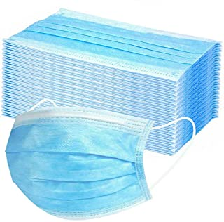 NBSR 10/20/50/100PCS 3-ply Disposable Blue Cover Unisex Oral Protection Filter Hygiene and Protection Against Dust Waterproof Cover, High Filtration and Ventilation Security (10pcs)